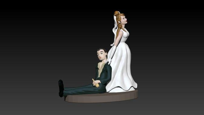 marriage 3d model stl 1