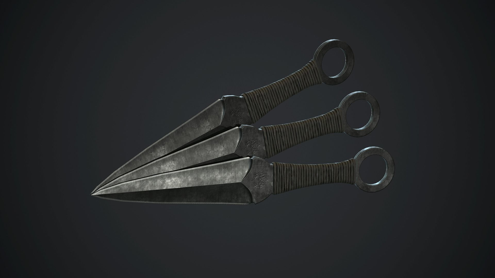 Throwing Knife PBR Game Ready