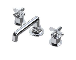 3d model waterworks henry faucet with cross handles