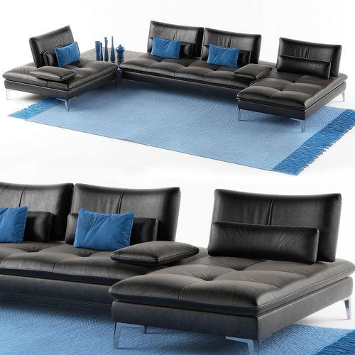 Roche Bobois Sofa Scenario Set 3d Cgtrader
