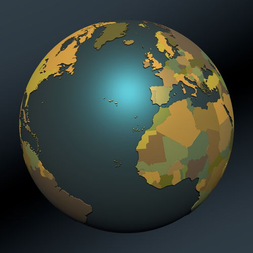 3d model political map earth globe with countries political map earth globe with countries 3d model gumiabroncs Choice Image
