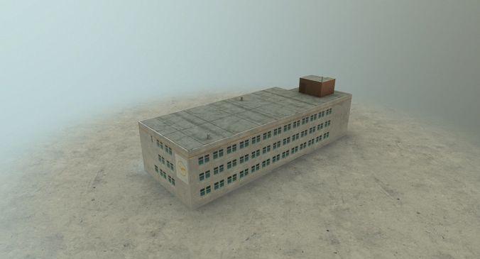 eddb building 1 3d model low-poly max obj 3ds fbx mtl 1