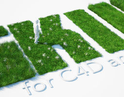 Grass Kit III for C4D and Vray 3 3D model