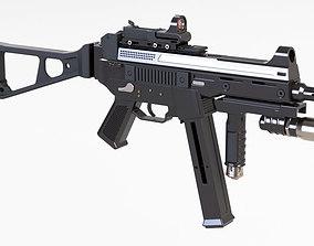 machine gun heckler and koch 3D print model