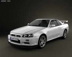 3D model Nissan Skyline R34 GT-R coupe 1999
