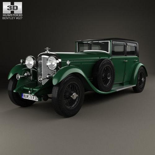 bentley 8 litre 1930 3d model max obj mtl 3ds fbx c4d lwo lw lws 1
