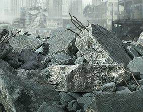 Demolished Concrete Rubble 3D model