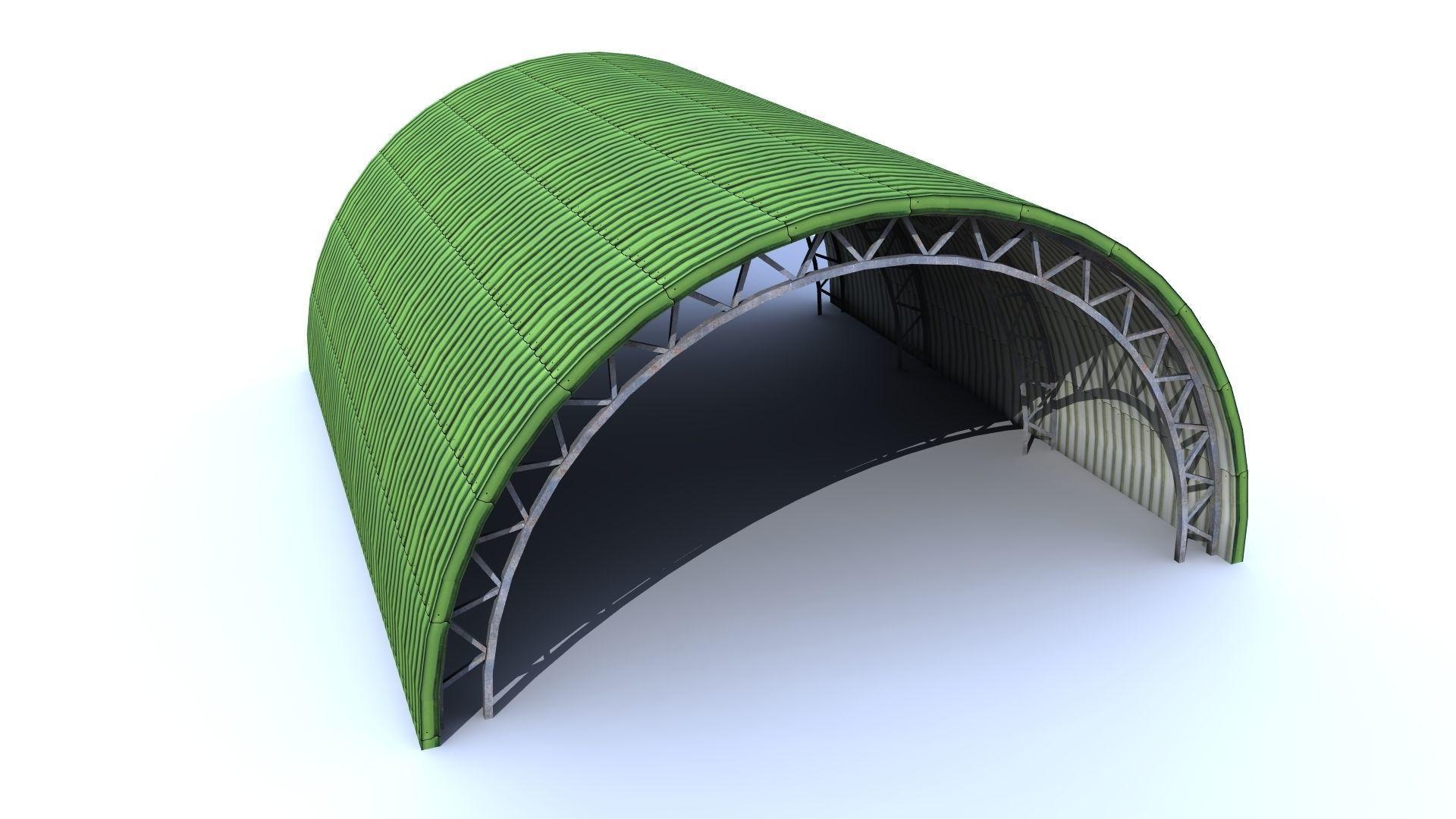 Aircraft low poly - Shelter Hangar FREE