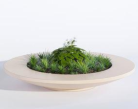 3D model Rosetta bowl bench planter