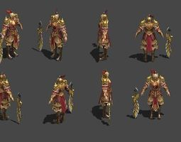 3D asset Senior officer A helmet and armor
