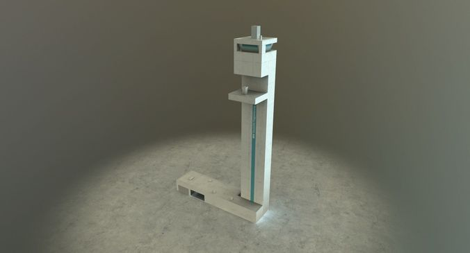 eddb dfs tower 3d model low-poly max obj 3ds fbx mtl 1
