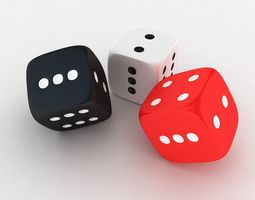 dices 3D model games