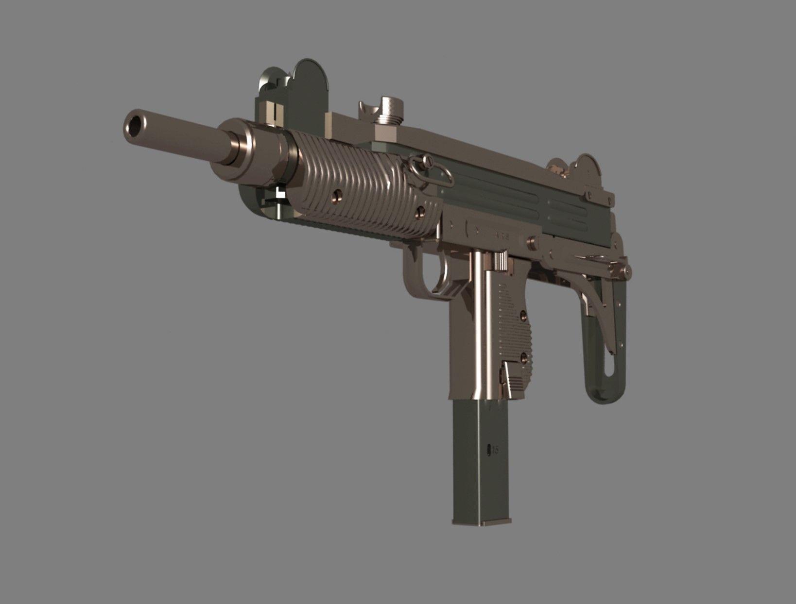 Uzi gun | 3D model