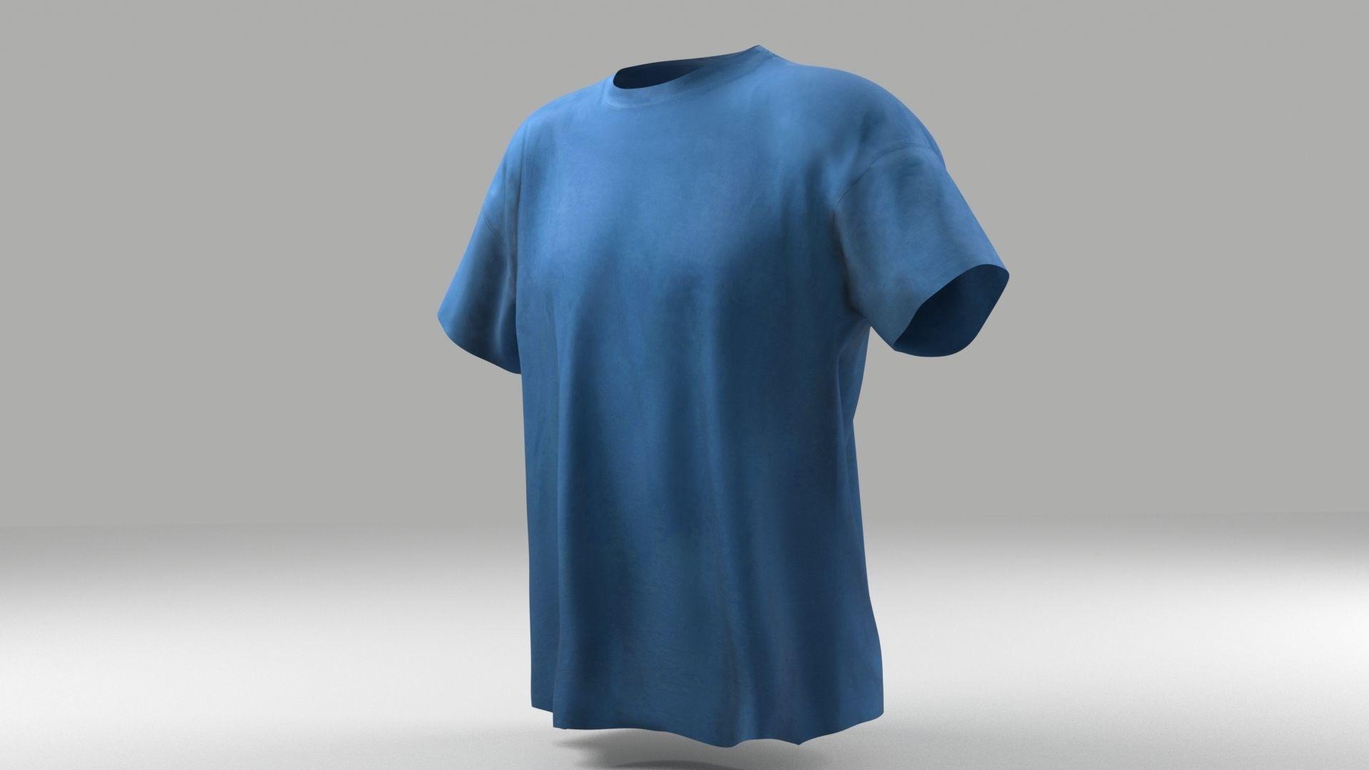 T-shirt 3D model low poly