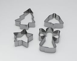 Baking Mould Set 3D model