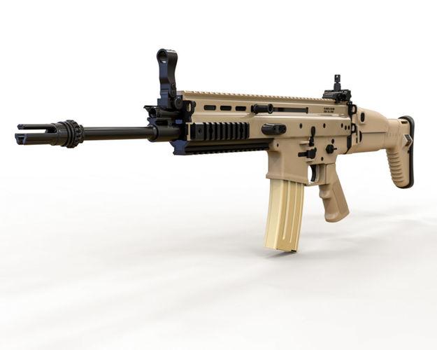 3D FN SCAR-L Rifle Gun | CGTrader