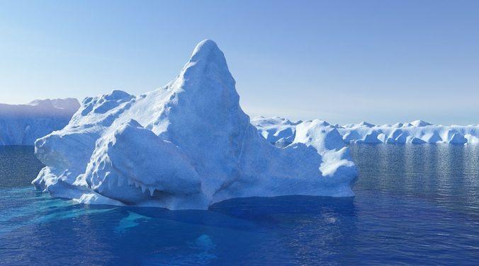 iceberg  3d model obj fbx 1