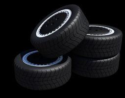 Pontiac Trans Am Knight Rider Wheels 3D asset