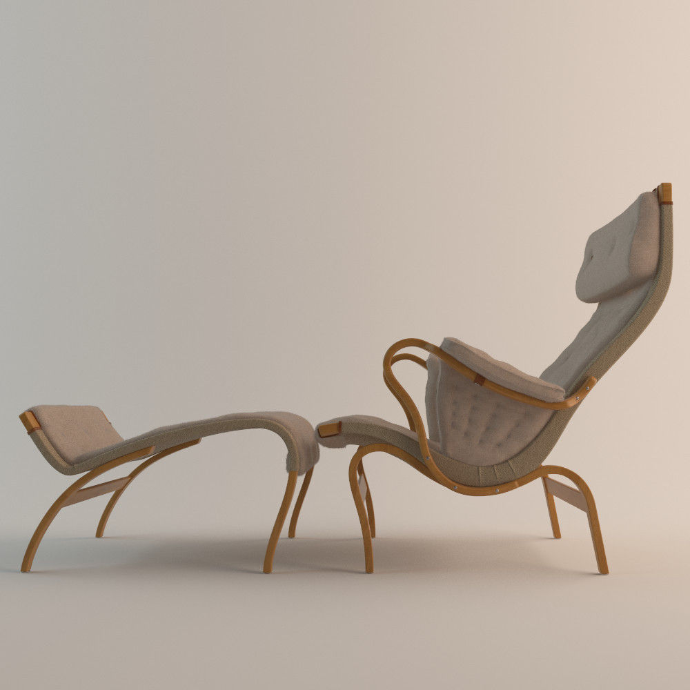 ... Bruno Mathsson Pernilla Chair Dux 3d Model Max Obj Fbx 2 ...