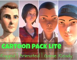 3D model animated Cartoon Pack Lite