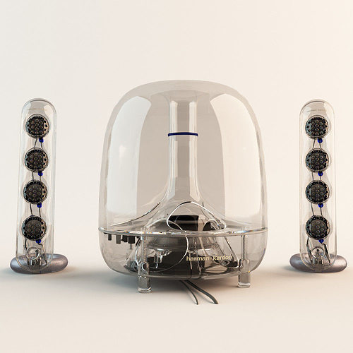 harman kardon soundsticks 3d model max obj fbx 1