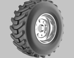 Offroad truck wheel 3D model part