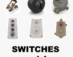 Vintage switches collection vol1 3D