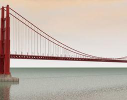 3D The Golden Gate Bridge