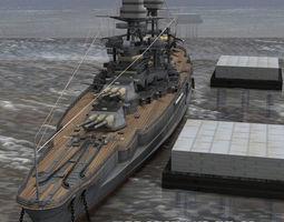 USS Arizona for Poser 3D model