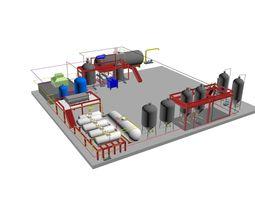 3D model s oil factory plan
