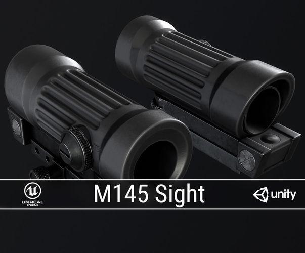 pbr m145 sight 3d model low-poly obj mtl fbx ma mb blend dae tga 1