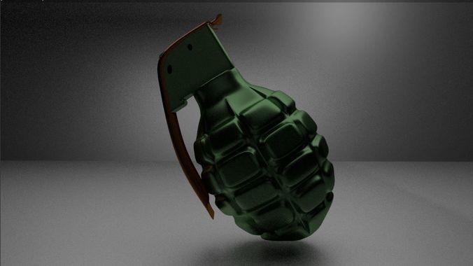 3d model cool grenade cgtrader