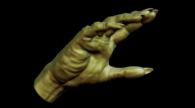creepy monster hand model for 3d print 3d model obj mtl fbx stl 1