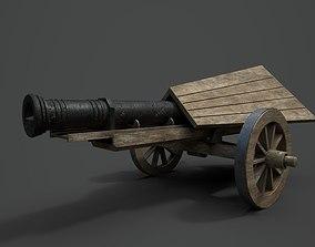 Da Vinci Cannon Game-ready model realtime