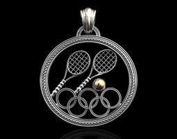 Tennis Olympics pendant 3D print model
