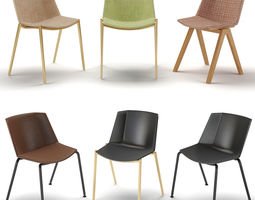 MDF Italia Aiku Soft Chairs 3D model