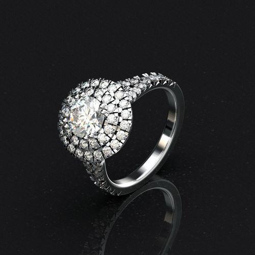 engagement ring 3d model stl 1