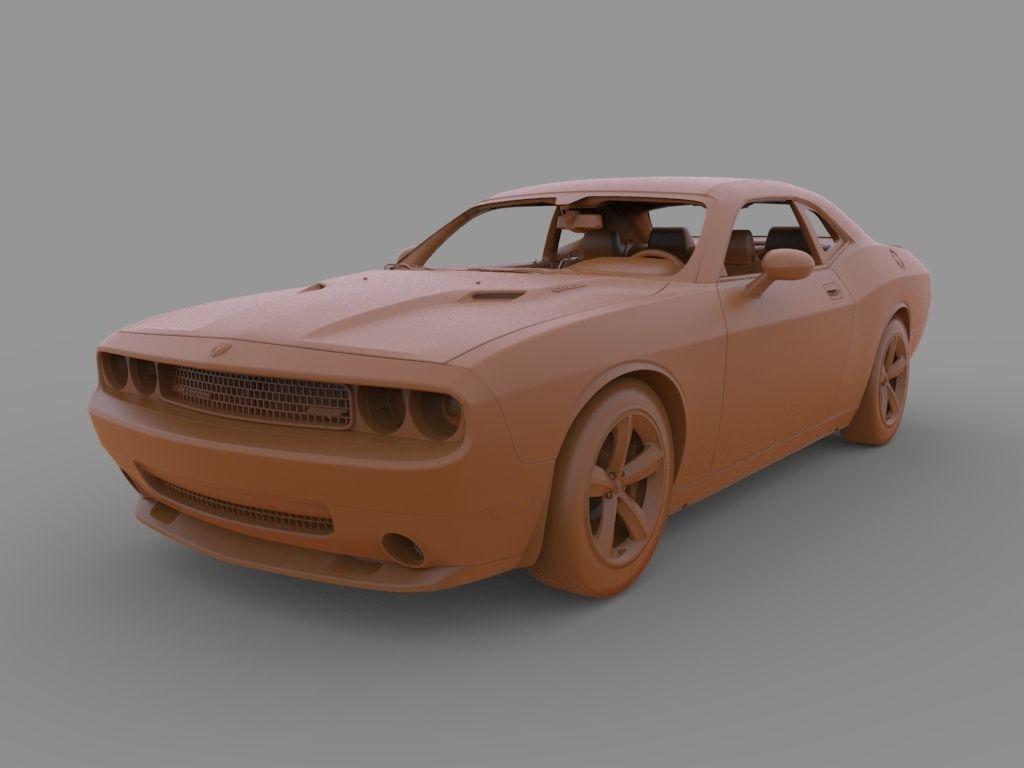 2019 Dodge Challenger SRT 3d model | CGTrader