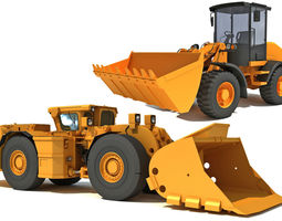 Mining Vehicles Models 3D