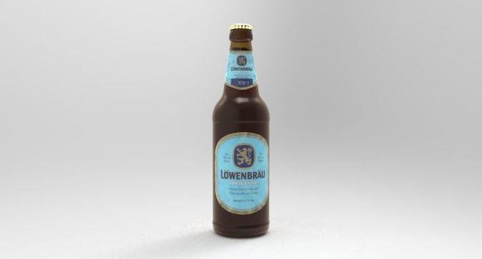 lowenbrau beer bottle 3d model obj mtl fbx stl dae ige igs iges stp 1