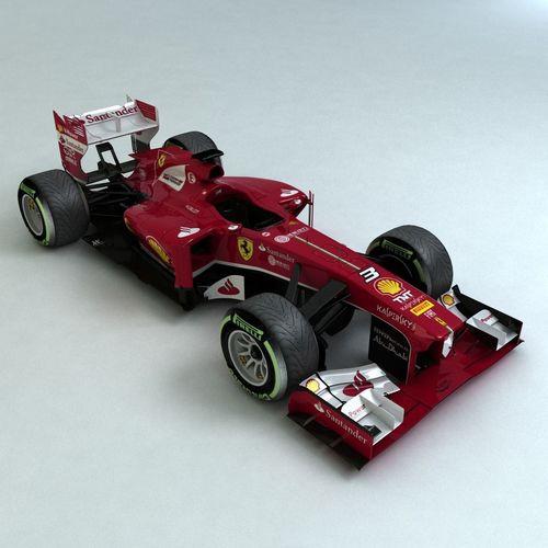 2013  formula 1 ferrari f138 3d model low-poly max obj mtl 3ds fbx 1