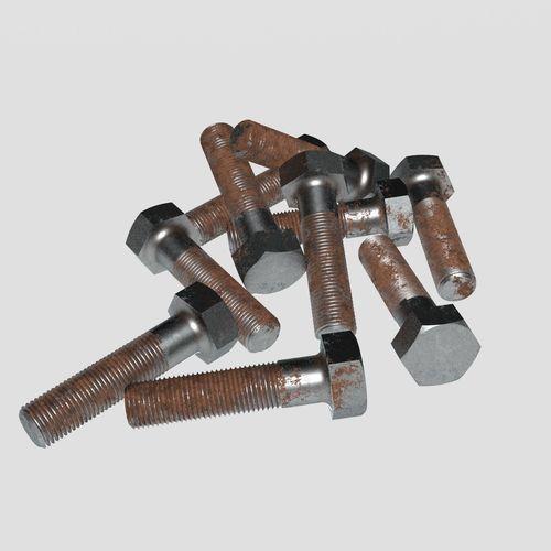 rusty bolt set 3d model max obj mtl 3ds fbx 1