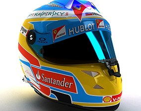 2014 Fernando Alonso Schuberth F1 Helmet 3D model