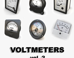 3D Analog Voltmeters collection vol 2