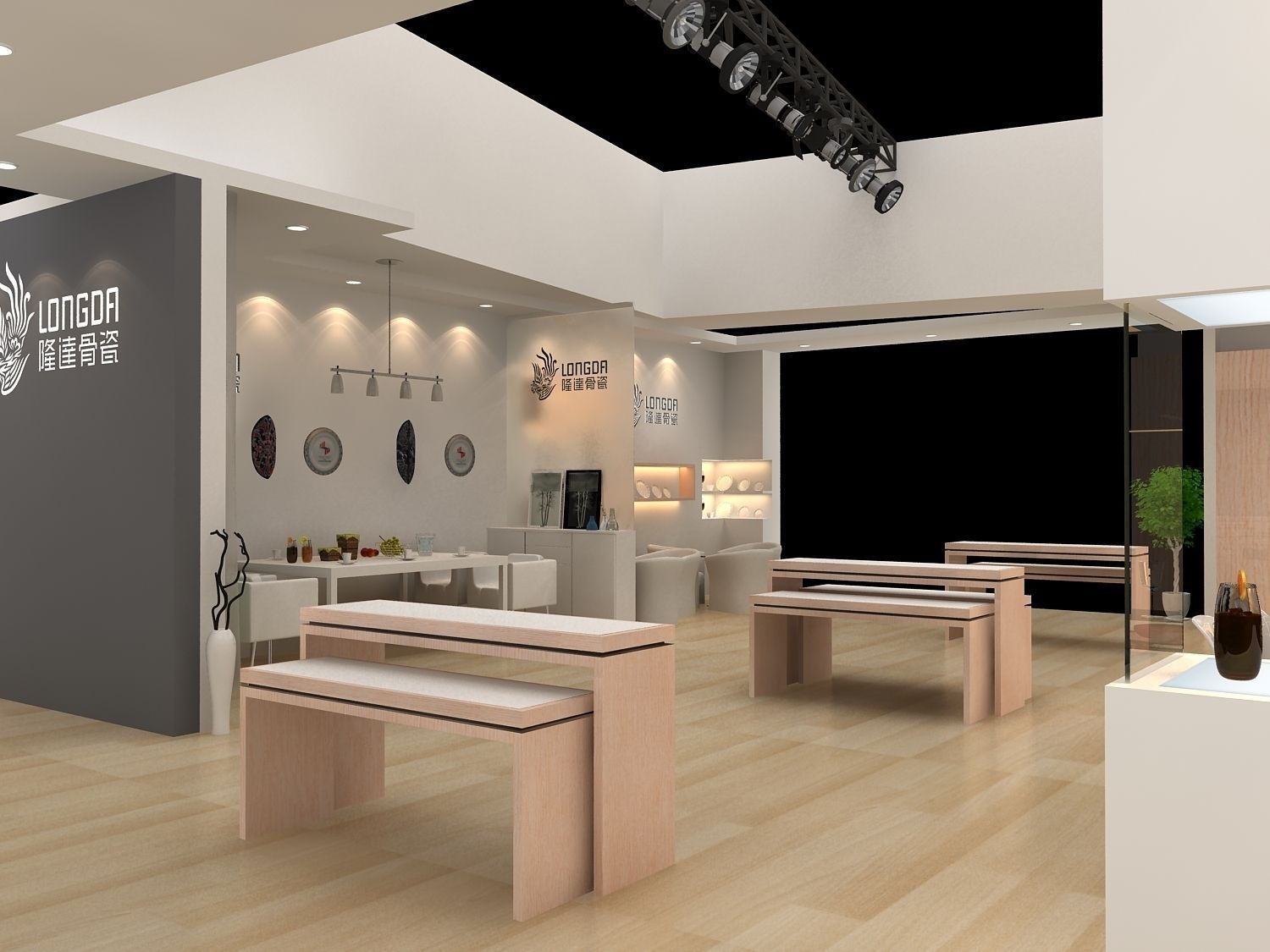 Exhibition Stand Design Jobs London : Exhibition area dmax d model max cgtrader