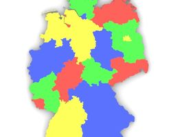 Map of Germany 3D model