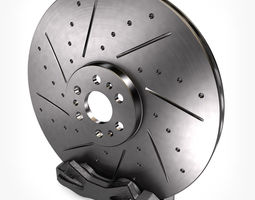 vehicle Brake Disc with Caliper 3D model