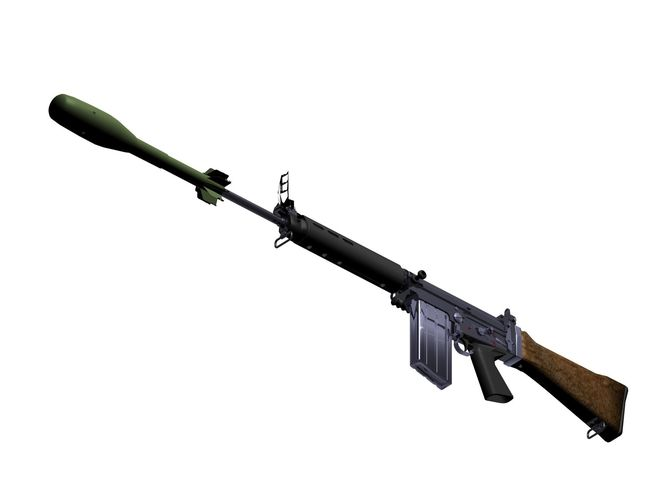 FN FAL Battle Rifle R1 variant | 3D model