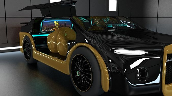 Futuristic Car 3d Model Animated Cgtrader