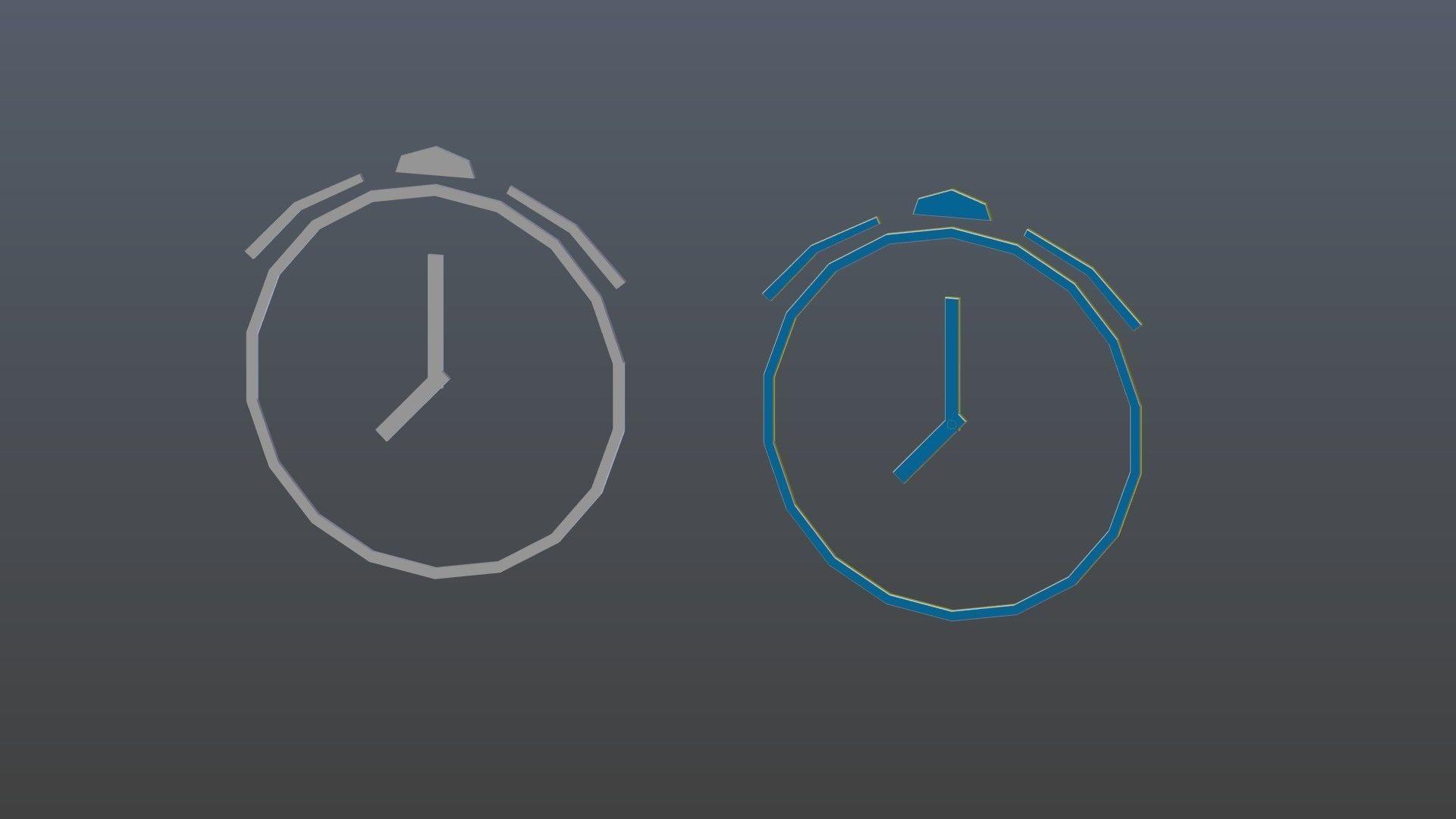 Low poly Alarm symbols